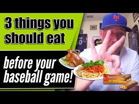 How to eat before your baseball game for peak performance!