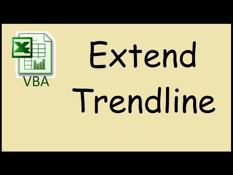 How to extend the trendline in Excel