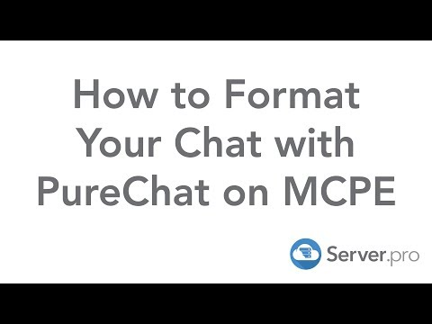 How to Format Your Chat with PureChat on MCPE