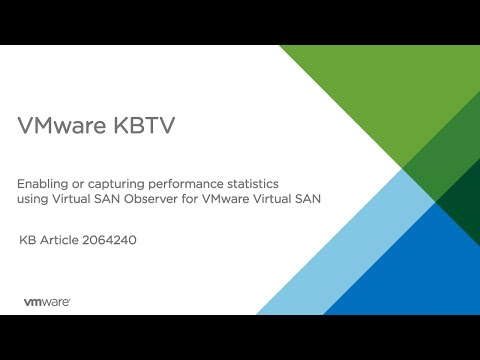 How to capture performance statistics using vSAN Observer for Vmware vSAN