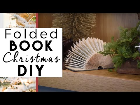 Christmas Decorations |  Folded Book Pages