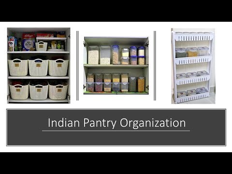 Kitchen Organization Ideas - Indian Pantry Organization