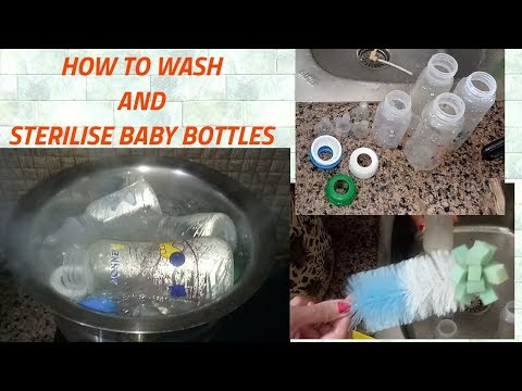 How to wash and sterilize baby feeding bottles?
