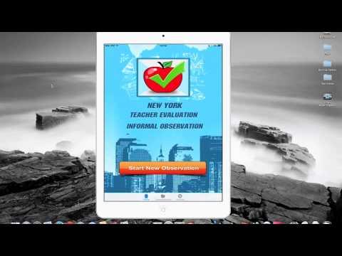 New York Teacher Evaluation - Informal Observation App Tutorial