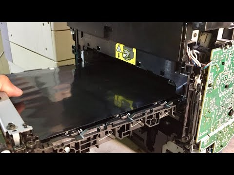 how to remove the intermediate transfer belt on HP LaserJet Pro 200 color MFP M276nw Printer