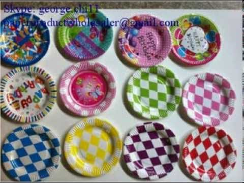Party Set( Paper Plate, Paper Cup, Horn, Mask, Hat, etc) Made By Mingyuan Company