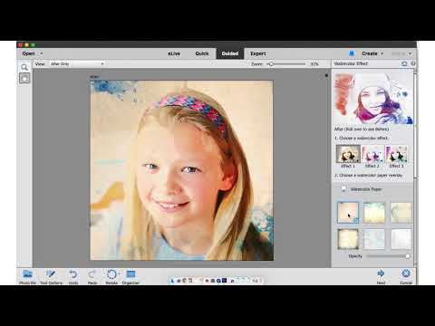 Adobe Photoshop Elements 2018 Watercolor Effect Tutorial