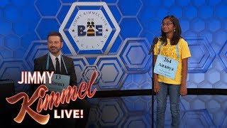 jimmy kimmel vs 12yearold spelling bee winner