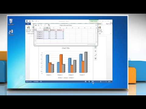 How to make a Column (Vertical Bar) Graph in Microsoft® Word 2013