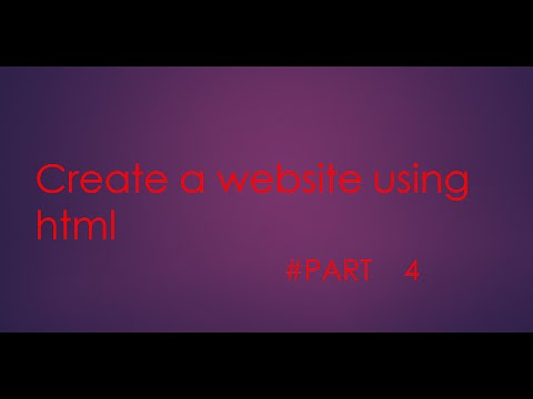 How to create a login page in the website using HTML part 4