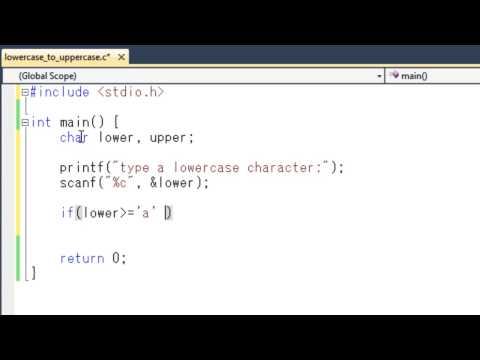 How to convert Character from lowercase to uppercase in C Programming