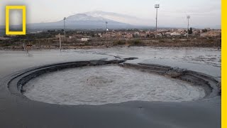Can This Bubbling Pit Of Mud Really Predict a Volcanic Eruption?   National Geographic