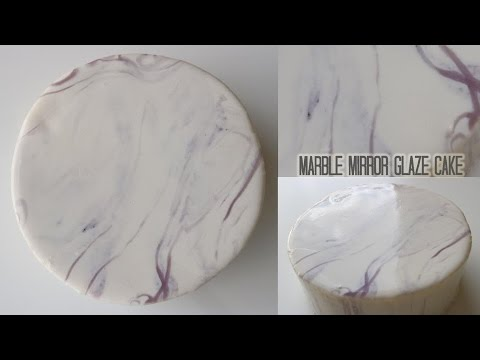 Marble Mirror Glaze Cake!