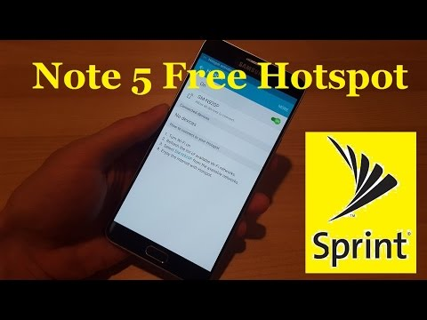 Sprint Samsung Galaxy Note 5 SM-N920P Free Wifi Hotspot Enabled!