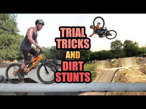 TRIAL BIKE TRICKS AND DIRT JUMP STUNTS