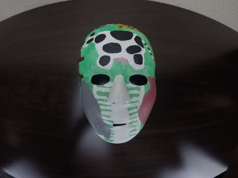 White Black Pink Green Burgundy Dark Brown Tan Blue Grey Art Mask Making