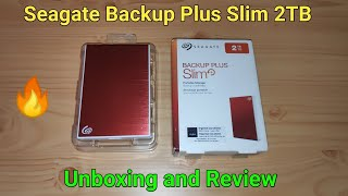 Seagate Backup Plus Slim 2TB Hard Disk Unboxing, Review, Speed Test