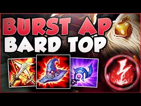 DON'T UNDERESTIMATE THIS BARD'S BURST! FULL AP BURST BARD SO OP! BARD TOP GAMEPLAY League of Legends