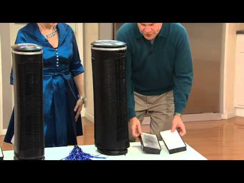 HoMedics HEPA Ocsillating Tower Air Cleaner with Jane Treacy