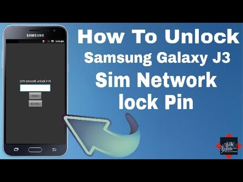 Samsung Galexy J3 Sim Network Pin Unlock On 2017