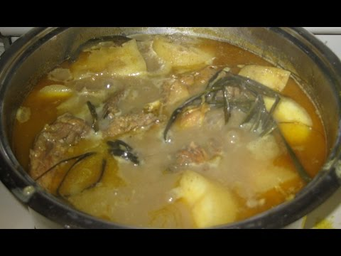 Curry Chicken (CACH LAM CA RI GA) with Taro Root and Yucca Root