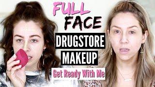 FULL FACE Using Only DRUGSTORE MAKEUP