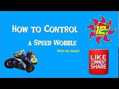 How to control a Speed Wobble Tank Slapper on a motorcycle tips & technique