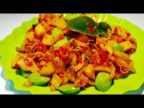 Resep Ayam Suwir Kentang Petai