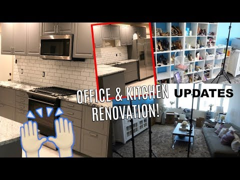 AHH! IKEA KITCHEN RENO UPDATE | OFFICE SPACE LAYOUT #2 - Looks so different!