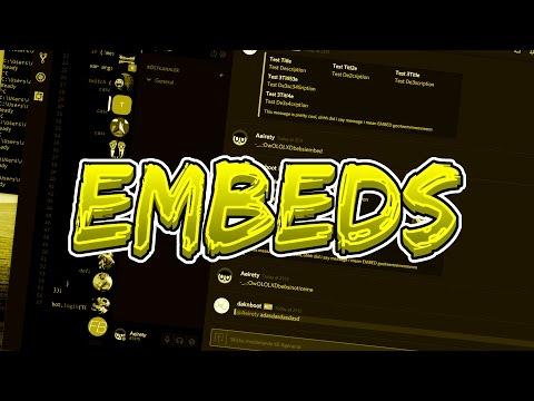 EMBEDS | Discord Bot Coding Tutorial #3 (Node JS & Discord JS)