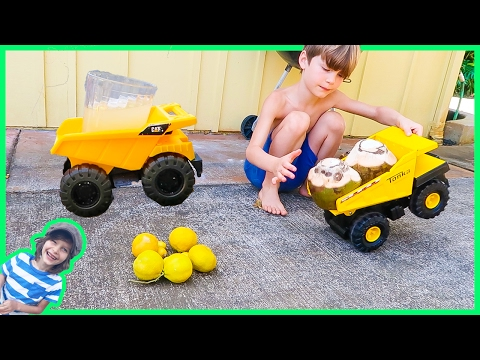 Construction Trucks Make Coconut Limeade