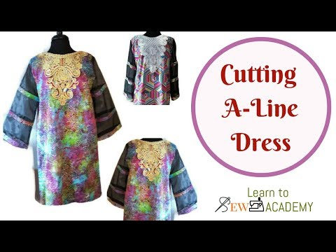 How to Cut A-Line Dress with Sleeves