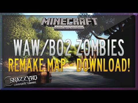 Minecraft Xbox 360: WAW/BO2 Zombies World w/ Download Link!
