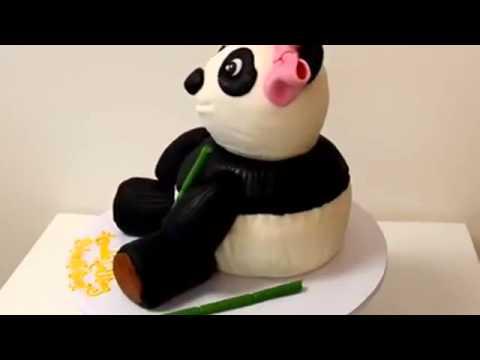 How to make cake Panda Shape cake   Custom Cake demonstration