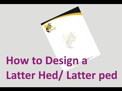 How to design a Letter Head with  corel draw tutorials in urdu