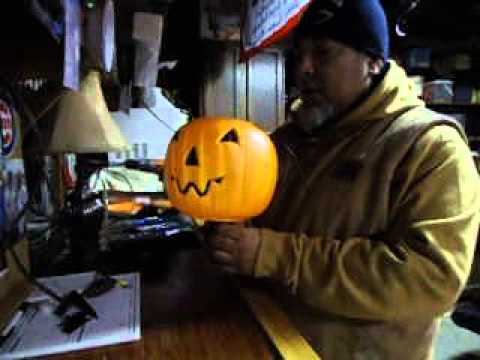 Halloween DIY decorate your yard with them cheap plastic orange Pumpkins