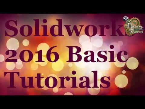 Solidworks 2016 Basic tutorial for Begineer in Hindi/English