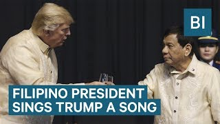 Philippines President Rodrigo Duterte Serenades Trump With A Love Song