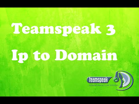 How to change your teamspeak IP to Domain