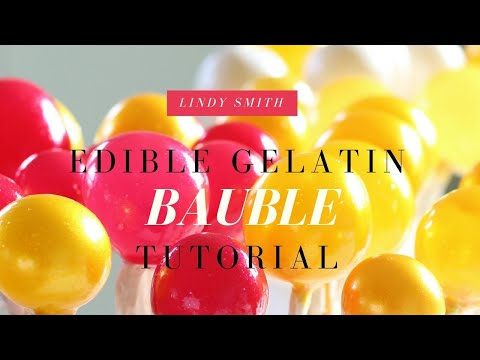 How to make edible gelatine baubles or bubbles to decorate your cake by Lindy Smith