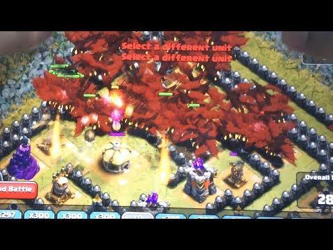 Clash of clans - 300 wall breakers 216 lighting spells & 300 Goblins (Gameplay)