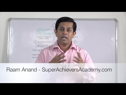 How To Get More Done in Less Time Urgent Important Matrix SuperAchieversAcademy com