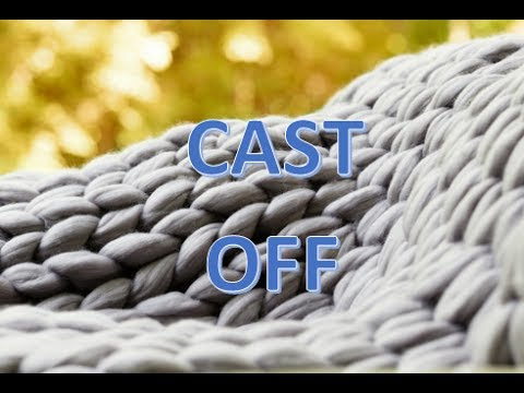 How to cast off your chunky knit blanket. BeCozi