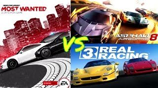 Asphalt 8 Airborne vs Need For Speed Most Wanted 2 vs Real Racing 3 - GAMEPLAY!