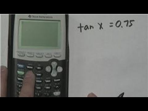 Mathematics : How to Calculate Angle Degrees Tangent