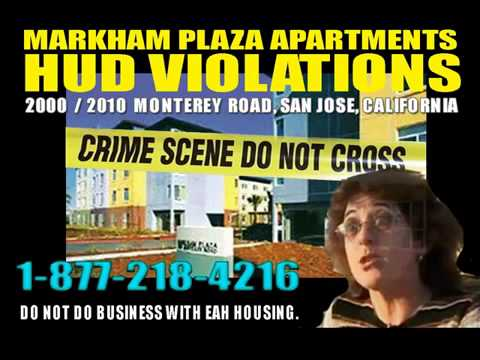 Woman Evicted from Markham Plaza Apartments in San Jose for complaining  blood stains