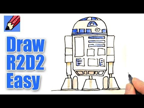 How to draw R2D2 Real Easy