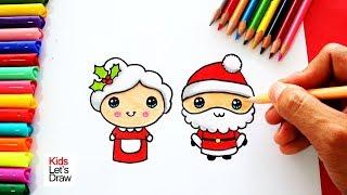 Cómo Dibujar Un Papá Noel Lindo Videos 9tubetv