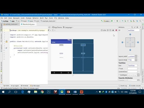 Getting Started With Android App Development | Learn Code of a Simple Android Program | Video #01