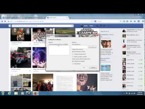 How to Download Facebook Photo Albums In Firefox For Free (2014) .. (Using The